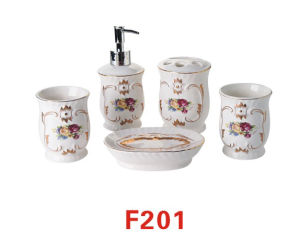 Lotion Bottle, Tooth Cup, Soap Dish, Bathroom Accessories (No. F201) pictures & photos
