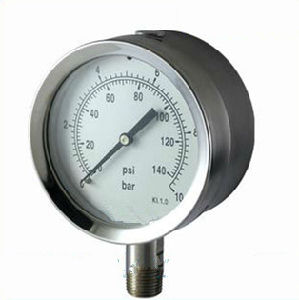 High Quarty 140psi/Bar All Stainless Steel Kl1.0 107mm Pressure Gauge pictures & photos