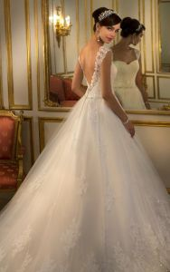 Sweetheart Bridal Gowns Cap Sleeves Appliqued Wedding Dress A23 pictures & photos