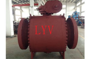 Forged Steel China Dn 500 Ball Valve with Worm Gear