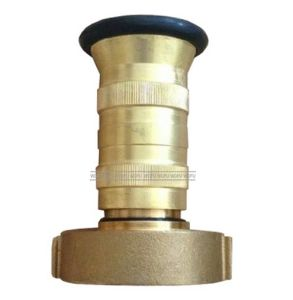 "2-1/2"" Nst Brass Fire Hose Fog Nozzle with Bumpe pictures & photos"