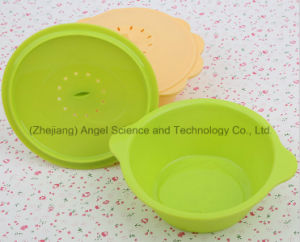 Non-Toxic Silicone Bowl with Lid, Silicone Steamer Sfb03 pictures & photos