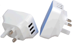 USB Wall Charger with 3 USB Ports Output pictures & photos