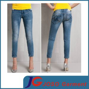 Women Pants Tall Jeans Crop Skinny Trousers (JC1381) pictures & photos