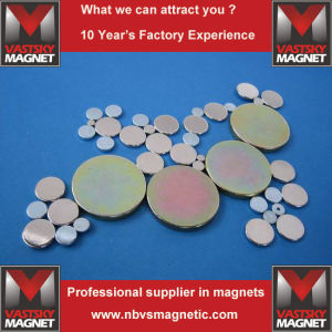 Wide Selection of Sizes of Neodymium Rare Earth Disc Magnets pictures & photos