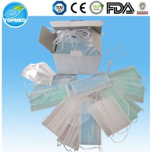 Medical Disposable 3 Ply Hospital Mask with Bfe 99% pictures & photos