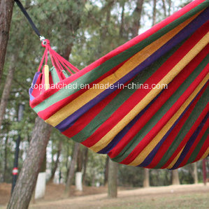 2017 Hot Sale Outdoor Colorful Striped Nylon Hammock Lightweight Portable Hammock for Camping Travel pictures & photos
