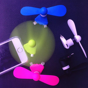 Mini 2 in 1 Portable Micro USB Fan Hand Fan for iPhone 5 5s 6 6s Plus Hand Fans for Samsung HTC Sony Android OTG USB Gadget pictures & photos