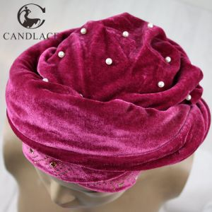 New Fashion Beaded Velvet Head Scarf pictures & photos