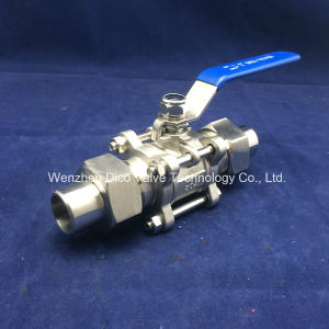 3PC Ball Valve with Union Butt Weld End pictures & photos