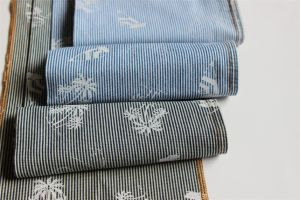Striped Printing Denim For Garments pictures & photos