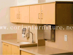 Factory Selling Corian Counter with Washing Basin Hospital Cabinets pictures & photos