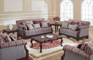 Traditional Fabric Sofa Set for Living Room Antique Home Furniture pictures & photos