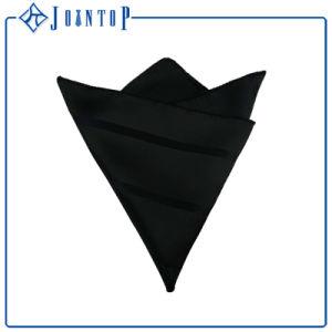 Fashion Men Black 100% Silk Pocket Square/Handkerchief pictures & photos