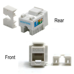 Wonterm 10-Pack Plastic Gold Female UTP Cat5e Ethernet Keystone RJ45 Punch-Down Keystone pictures & photos