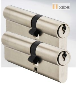 Economy Euro Secure Double Cylinder Lock Satin Nickel Keyed Alike Pair pictures & photos