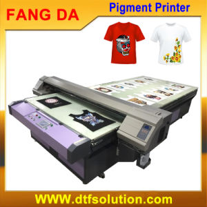 Digital Flatbed T-Shirt Printer for Cotton Texitle Pigment Ink-Jet Printing pictures & photos