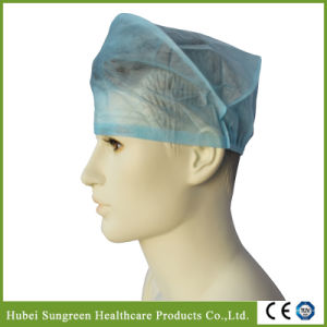 Machine Made Non-Woven Surgical Cap, Doctor Cap with Elastic pictures & photos