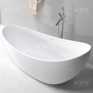 Solid Surface Stone Resin Bathroom Soaking Bath pictures & photos