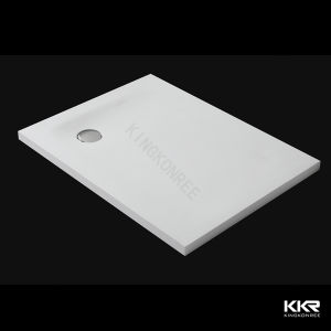 Sanitary Ware Pure White Solid Surface Shower Tray pictures & photos