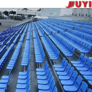 Jy-715 High Quality Fabric Tip-up Basketball Used Stadium Bleachers Steel Leg Platform Plastic Seat Portable China Supplier Gym pictures & photos