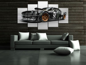 HD Printed Mustang RTR Car Painting Canvas Print Room Decor Print Poster Picture Canvas Mc-043 pictures & photos