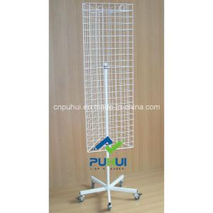 Floor Standing Steel Grid Wall Store Display Rack (PHY310) pictures & photos