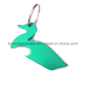 Duck Shaped Aluminum Bottle Opener Keychain pictures & photos
