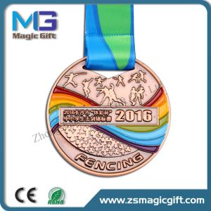 Customized Sport School Medallion with Color Filling pictures & photos