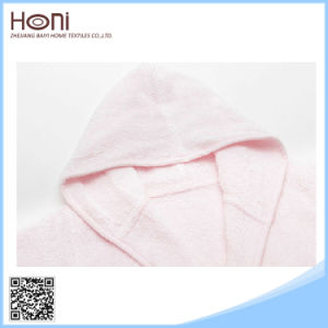 D-047 Stylish Plain Woven Baby Terry Cheap Bathrobe pictures & photos