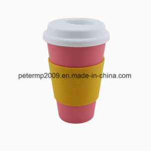 LFGB and FDA Approved Bamboo Fiber Coffee Cups with Silicone Lid and Sleeve pictures & photos