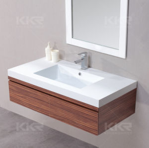 Custom Artificial Stone Resin Vanity Bathroom Sink pictures & photos