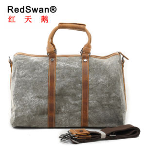 High Quality Genuine Leather Washed Canvas Man Handbags (RS-1011) pictures & photos
