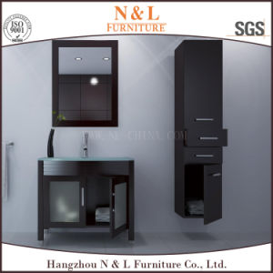 Top Wood Bathroom Furniture with Mirror and Wall Shower Cabinet pictures & photos