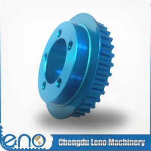 Blue Anodized Htd5m Aluminum Transmission Tooth Pulley pictures & photos