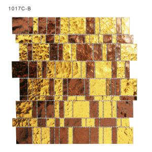 Shiny Building Materials Gold Crystal Kitchen Backsplash Tiles Glass Mosaic pictures & photos