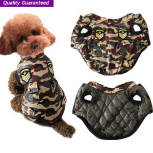 Pet Product Fashionable Camouflage Polyfill Dog Clothes