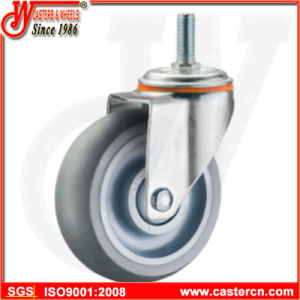 Medium Duty Gray TPR Rubber Swivel Casters with Brake pictures & photos