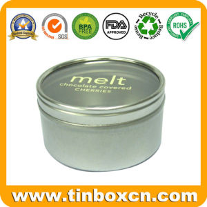 Round Clear Window Tinplate Box, Metal Food Tin Box pictures & photos