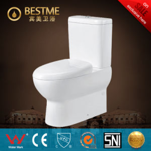 Watermark Two Piece White Glaze Toilet From China Supplier (BC-1320) pictures & photos