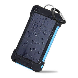 10000mAh LED Light Waterproof Solar Power Bank Dual USB Port pictures & photos