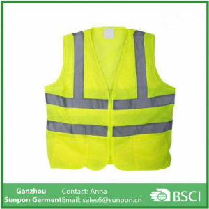 Yellow Mesh High Visibility Reflective Class 2 Safety Vest pictures & photos