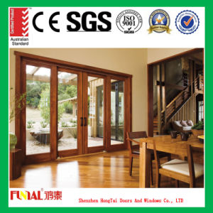 Wooden Color Aluminum Alloy Sliding Door pictures & photos