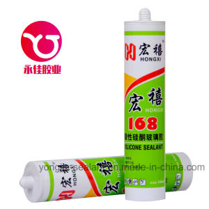 Acetic Adhesive/Glass Door/Glass Windows/Curtain Wall Silicone Sealant (HX-168) pictures & photos