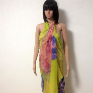 100% Polyester, Chiffon Material Multifunctional Scarf with Printing pictures & photos