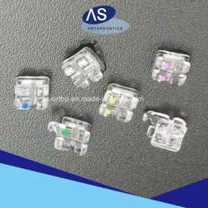 as-Orthodontic Manufacturer Sapphire Ceramic Brackets pictures & photos