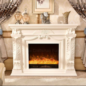 Ce Approved sculpture Wood Home Furniture Electric Fireplace (327B) pictures & photos