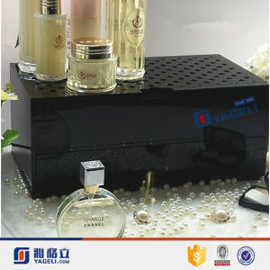 Wholesale Cosmetic Counter Top Acrylic Perfume Display Stand with Drawer pictures & photos