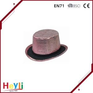 Fashion Custom Blinking Sequin Perfermance Jazz Hat pictures & photos