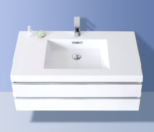 Sanitary Ware Furniture Bathroom Cabinet (Luxury double drawers) Glossy White pictures & photos